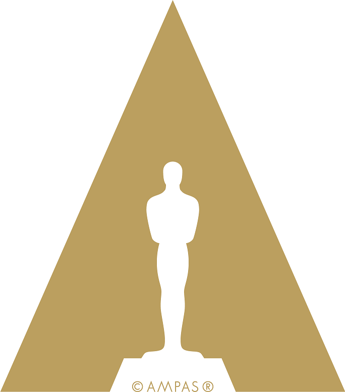 The AMPAS logo — A golden triangle with the Oscars award silhouette in white inside with the word AMPAS in golder under it. AMPAS is a .NET customer.
