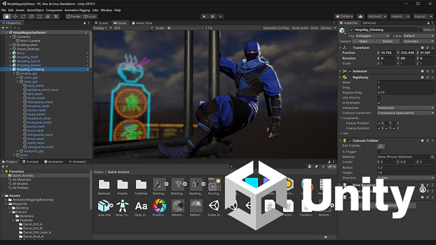 unity screenshot with logo